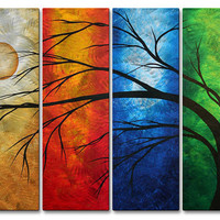 Megan Duncanson 'In Living Color Contemporary' Wall Sculpture, Modern Home Decor, Abstract Metal Wall Art