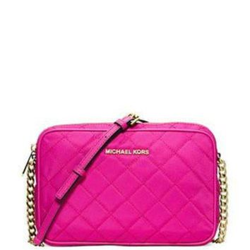LMFIW1 Michael Michael Kors Quilted Nylon East West Crossbody Bag