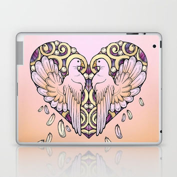 Lover Pigeons - Royal Heart Laptop & iPad Skin by MIKART
