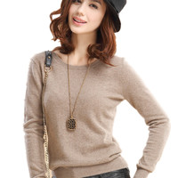 New Fashion Round Neck Pullover Sweater, Knitting/Cashmere Sweater/Coat Slim/Base Shirt,  Multicolor Available Genuine Goods
