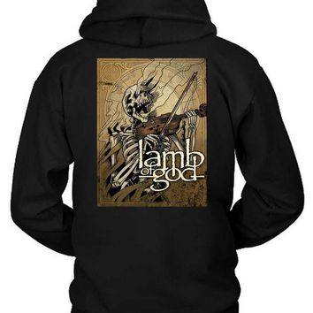 LMF1GW Lamb Of God Skull Instrumentals Hoodie Two Sided