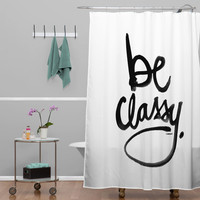 DENY Designs Kal Barteski Woven Polyester Be Classy Shower Curtain