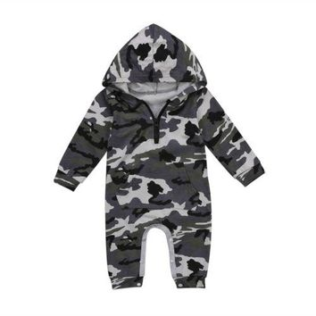 Newborn Baby Boy Girls Clothing Cotton Romper Jumpsuit Long Sleeve Army Green Cute Clothes Baby Boys Outfit Clothes