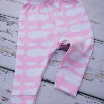 Girls Leggings - Cloud Leggings - Baby Leggings - Toddler Pants - Trousers - Girls Clothing - Baby Clothes - Pink Baby Clothes - Baby Girl