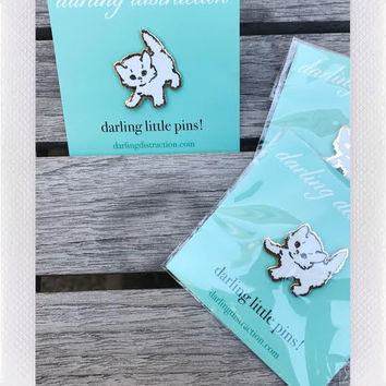 DARLING DISTRACTIONS KITTY PIN WHITE