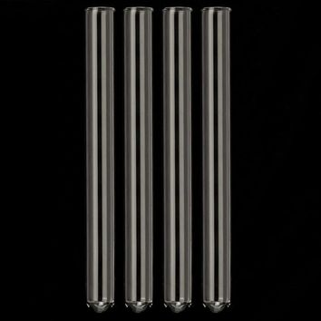 4pcs/set 180mm Long Pyrex Glass Test Tubes 18mm OD Clear Glass Wall Thickness 2mm for Laboratory School Educational Supplies