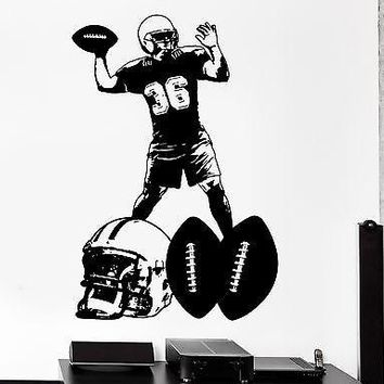 Wall Sticker Sport American Football Super Bowl Vinyl Decal Unique Gift (z3027)