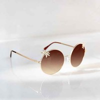Tropical Paradise Round Sunglasses