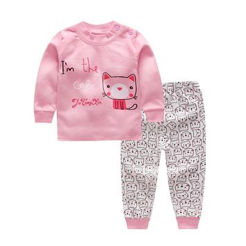 2017 Baby Boys And Girls Clothes Set Long Sleeve Sport Suit For Boys Children Clothing Cotton Costume For Kids Suits 12M-8years