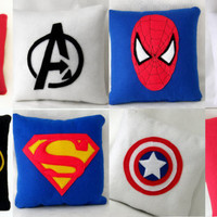 Superhero cushion .Pick your design:Avengers, Batman, Superman, Captain America,Green Lantern, Spiderman, Dr Who,