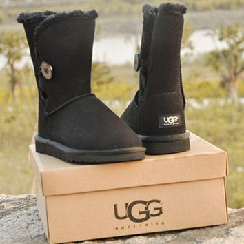 Ugg Female Fashion Wool Snow Boots Wool Shoes-2