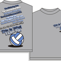 E29217 Utopia Volleyball I Live For VB T-shirts