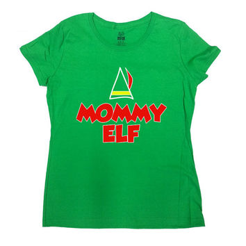 Funny Elf Shirt Mommy Elf T-Shirt Christmas T-Shirt Mommy Shirt Merry Christmas Family T-Shirt Elf Holiday Season Funny Ladies Tee - SA462