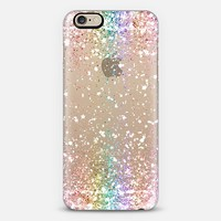 Pastel Rainbow White Confetti Explosion iPhone 6 case by Organic Saturation | Casetify