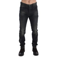 Costume National Gray Wash Slim Fit Cotton Denim Jeans