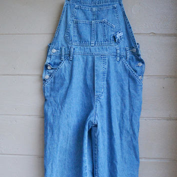 Vintage 90's Jordache Denim Overalls Blue Faded Denim Romper Jumper Denim Bib Overalls Grunge Punk Painters Bib Overalls Size Medium