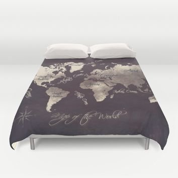 world map 18 Duvet Cover by jbjart