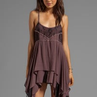 Free People Pieced Lace Slip in Mulberry Combo from REVOLVEclothing.com