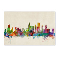 Michael Tompsett 'Chicago Illinois' Canvas Art