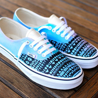 3f723bf626e957 Custom Hand Painted Pastel Tribal Vans Authentic shoes - customizable