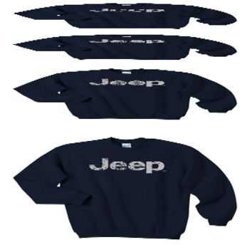 Crewneck Sweatshirt with Distressed Jeep Logo