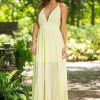 Look What I Braid Maxi Dress, Yellow