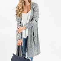 Dina Grey Long Cardigan