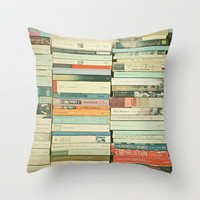 Bookworm Throw Pillow by Cassia Beck | Society6