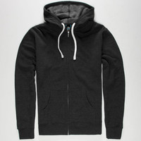 Standard Supply Slim Fit Mens Zip Hoodie Charcoal  In Sizes