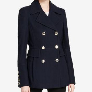 London Fog or Calvin Klein Double Breasted Pea Coats-Navy or Black