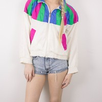 Vintage 90s Color Block Windbreaker Jacket