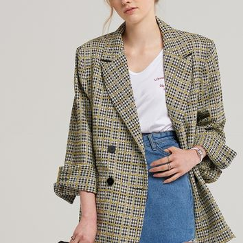 Claire Square Check Jacket Discover the latest fashion trends online at storets.com