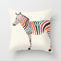 Zebra Throw Pillow by Jazzberry Blue | Society6