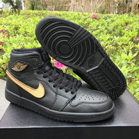Air Jordan 1 Retro High BHM Black Cat Sneaker