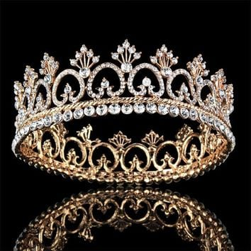 Princess Queen King tiara Crown Bridal Wedding Tiaras Crowns Headdress Women Birthday Gifts Bride Hair accessories