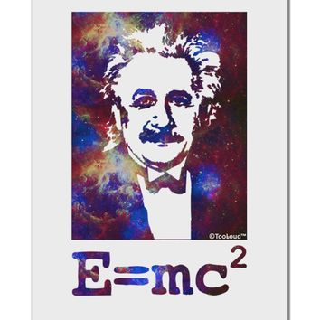 "Cosmic Galaxy Einstein - E equals mc2 Aluminum 8 x 12"" Sign by TooLoud"
