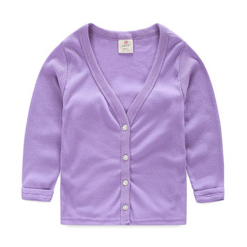Candy Spring/Autumn Thin Basic Girls/Boys Cardigan Ouertwear Sun Protective Baby Kids Clothes T1/0286DBO