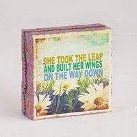 She  Took  The  Leap  Canvas  Keepsake  From  Natural  Life