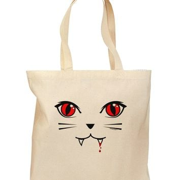 Vamp Kitty Grocery Tote Bag