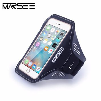Sports Phone Case Key Holder Slot Earphone Connection Gym Sports Fitness Running Workout