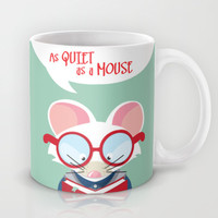 As Quiet as a Mouse (Bookworm / Student) Mug by Kitchen Bath Prints