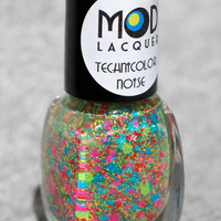 Technicolor Noise - Neon Glitter Nail Polish Mini 4ml