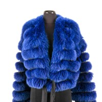 Armani Blue Fur Jacket