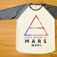 Galaxy 30 Seconds to Mars T-Shirt Alternative Rock Shirt Long Sleeve Shirt Women T-Shirt Men T-Shirt Unisex T-Shirt Baseball Tee Shirt S,M,L