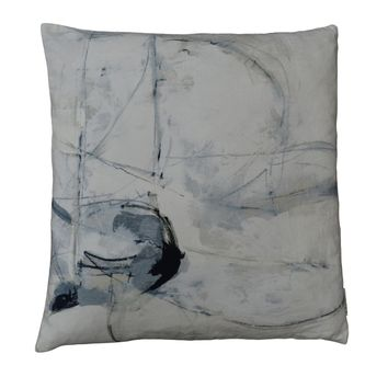 Trajectory Velvet Cushion W/Feather Insert