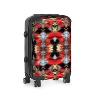 Red Black Ikat Suitcase