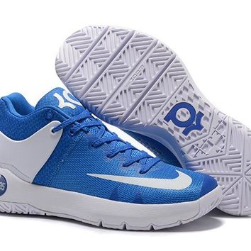 HCXX N313 Nike Zoom KD Trey 5 iv Low Actual Basketball Shoes Blue