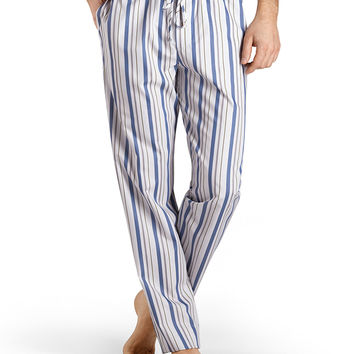 Alphonse Striped Lounge Pants, Blue, Size:
