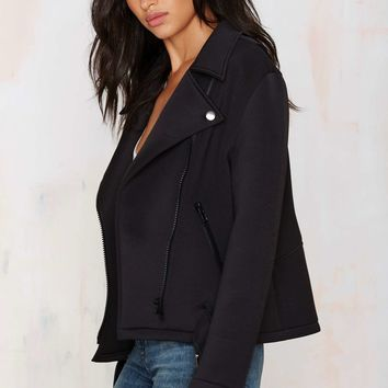 Nasty Gal Tough Love Neoprene Moto Jacket