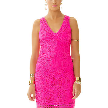 Astrid Knit Crochet Lace Shift Dress - Lilly Pulitzer